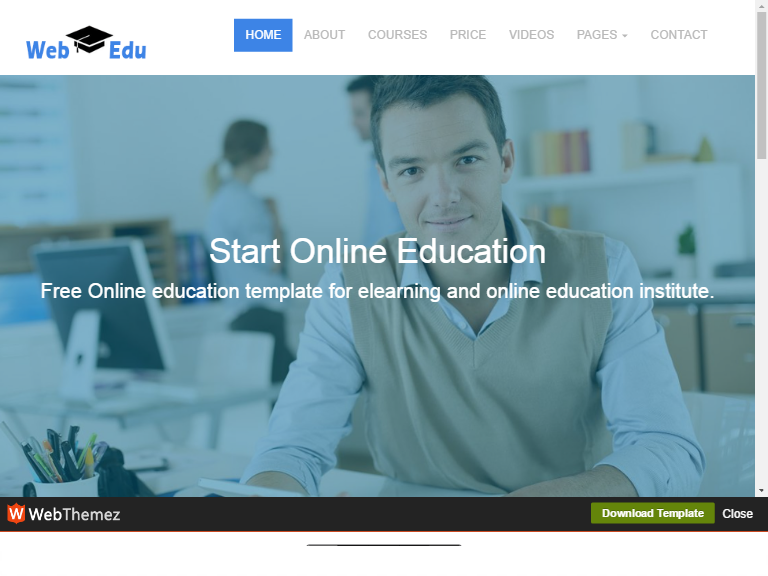 Free Educational Responsive Web Template webEdu