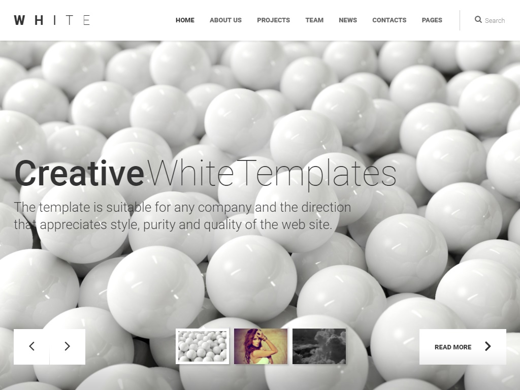 creative white in free portfolio website templates