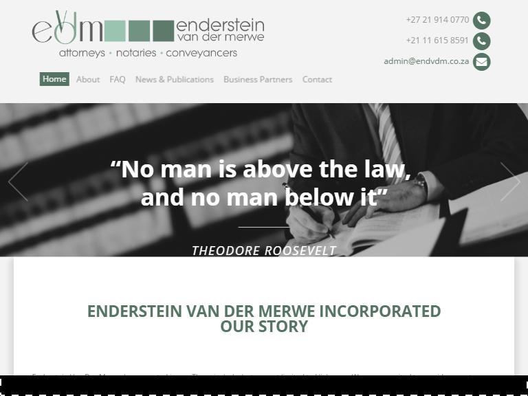Endersteinvandermerwe lawyers theme
