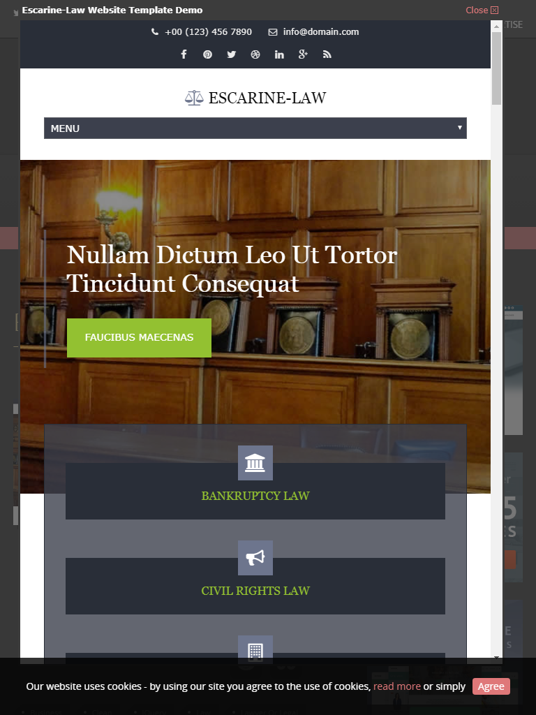 Escarine law theme
