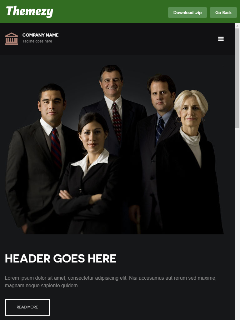 Free law firm theme
