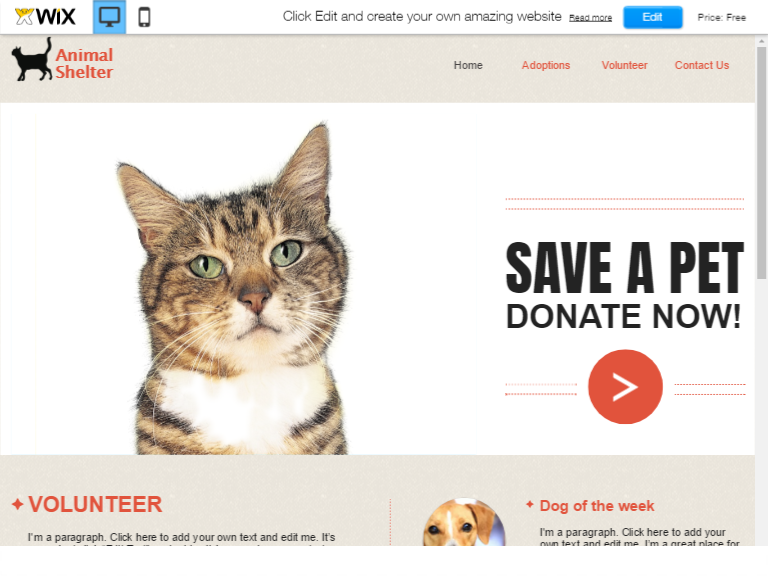 Free Animals HTML theme
