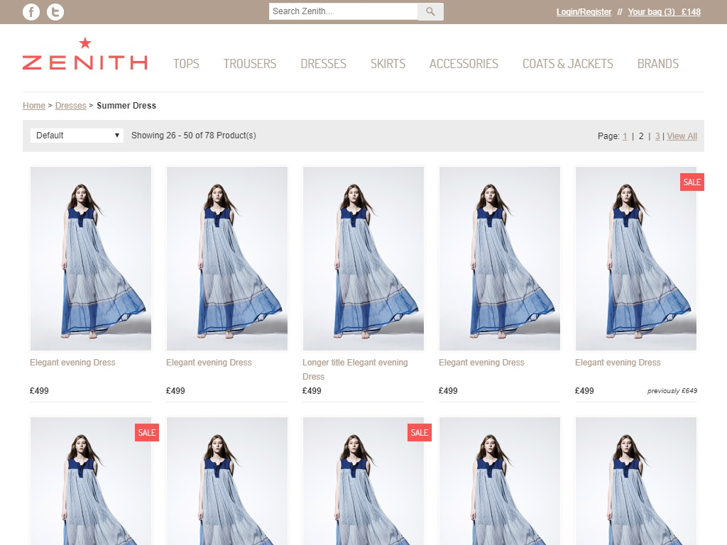Zenith Free Fashion Template