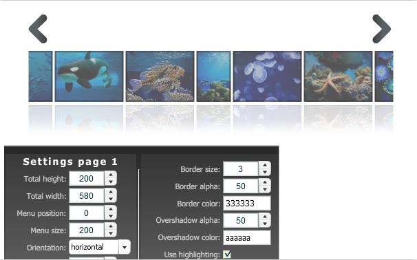 zoom image menu