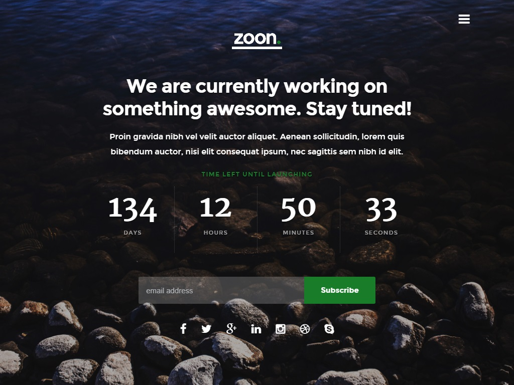 zoon free coming soon under construction template